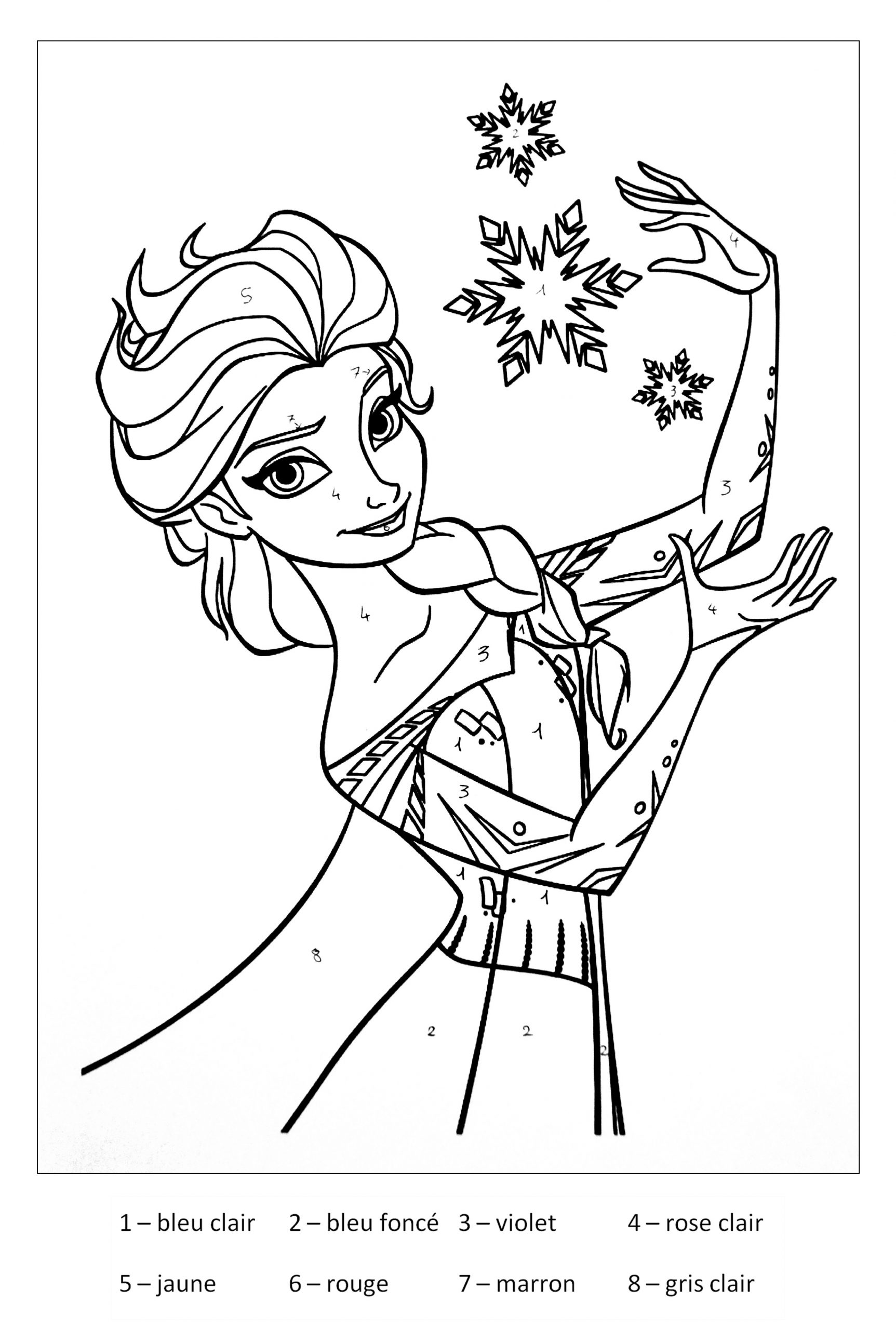 Magique Reine Des Neiges - Coloriage Magique - Coloriages encequiconcerne Coloriage Magique Alphabet Cp