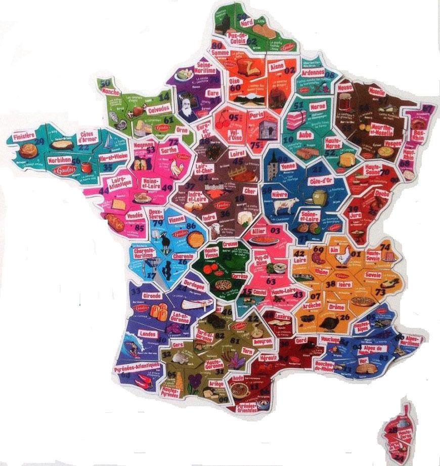 Magnet Le Gaulois : Carte De France , Départements Bord pour Carte De France Numéro Département