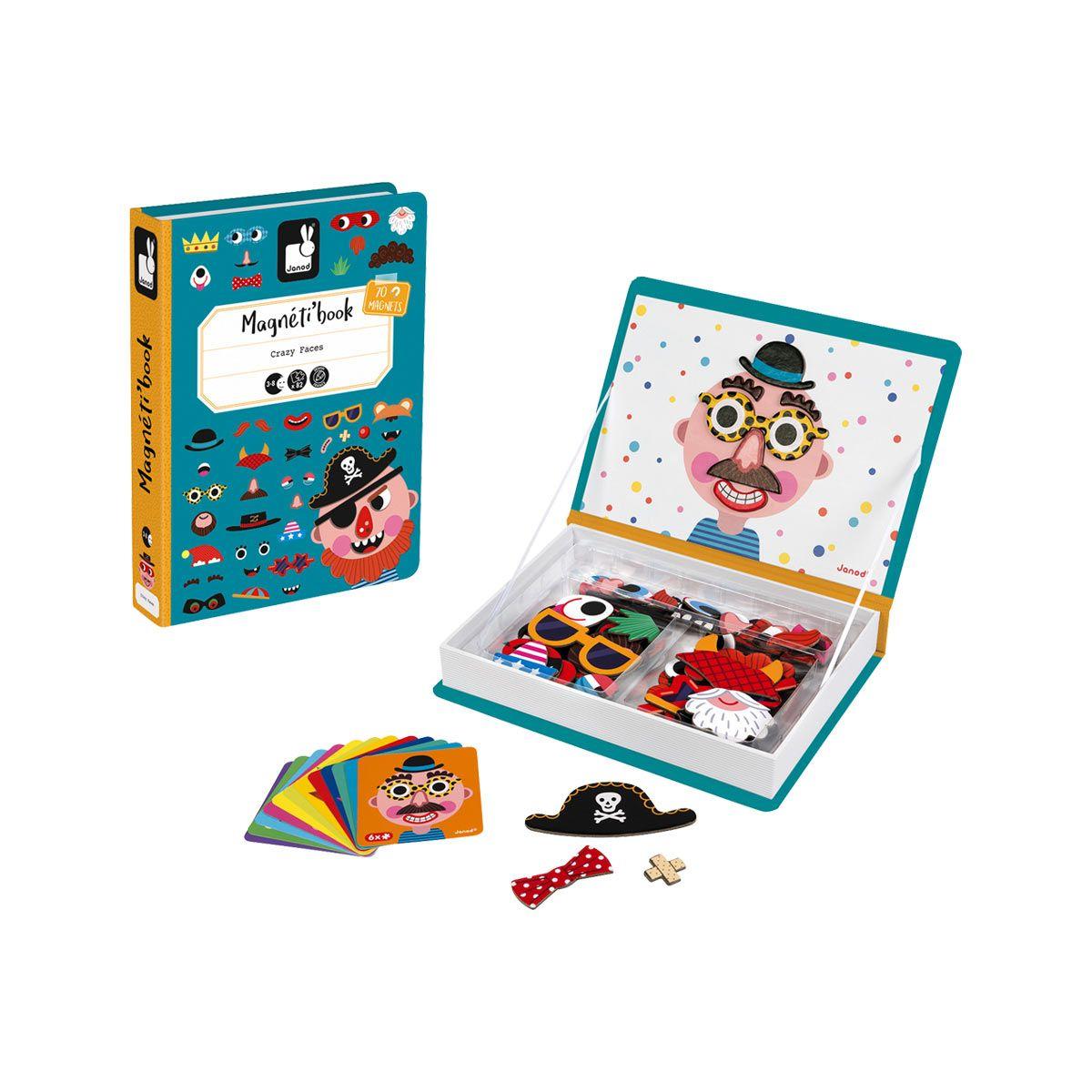 Magneti'book Crazy Face Janod   Jouet Eveil, Jeux Et Jeux Eveil à Jeux Enfant 3 Ans En Ligne