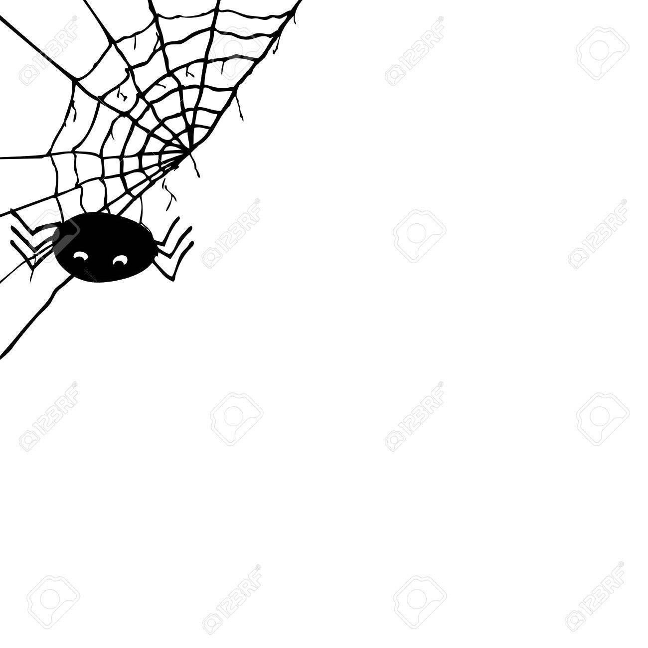 Main Dessiner Esquisse, Araignée Et Web tout Dessiner Une Araignee