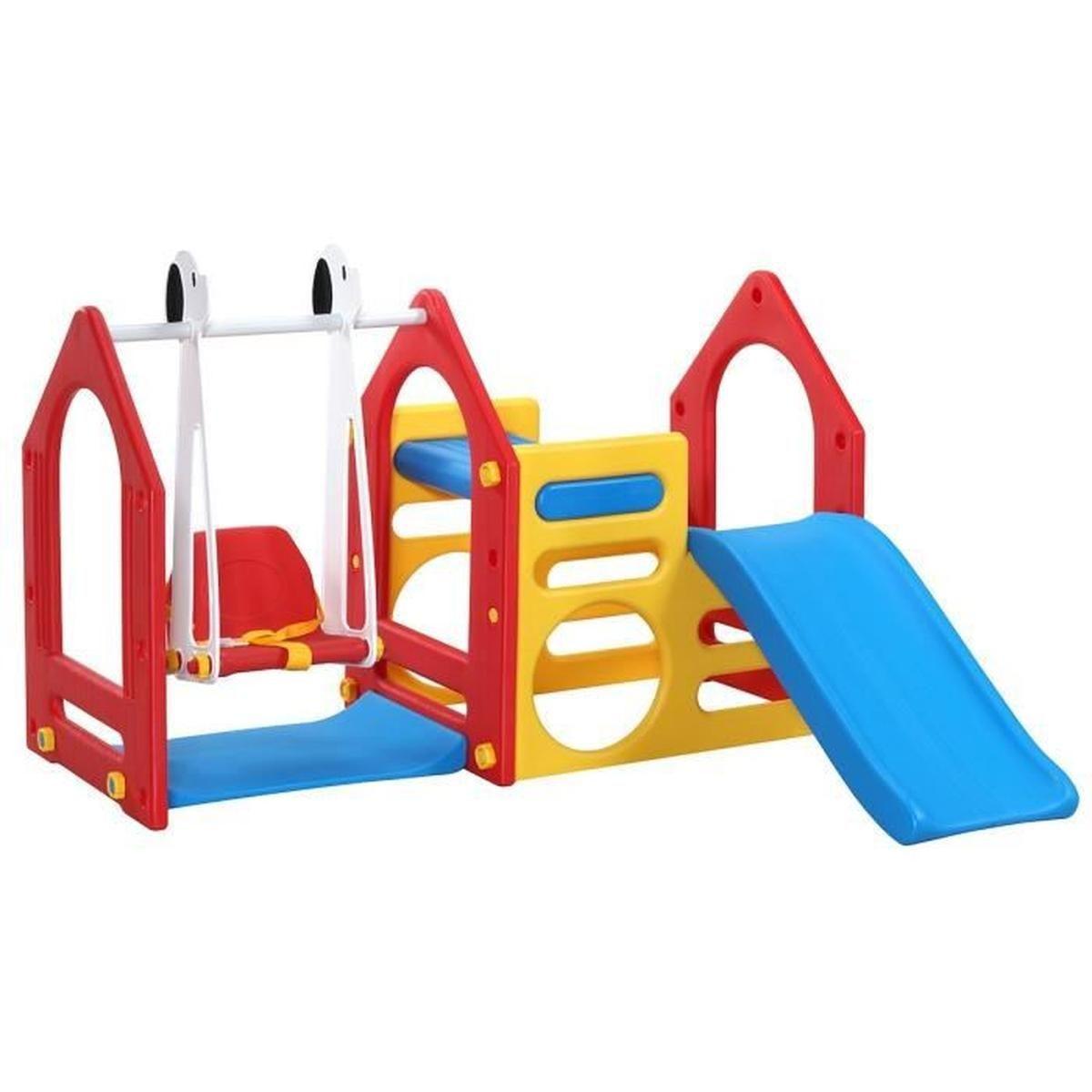 Maison De Jeu Pour Enfants Avec Toboggan Et Balançoire Ks destiné Jeux Pour Enfan