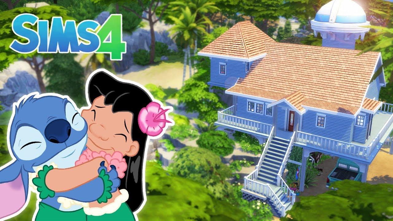 Maison De Lilo & Stitch 🌺 - Sims 4 intérieur Lilo Et Stitch Dessin Animé