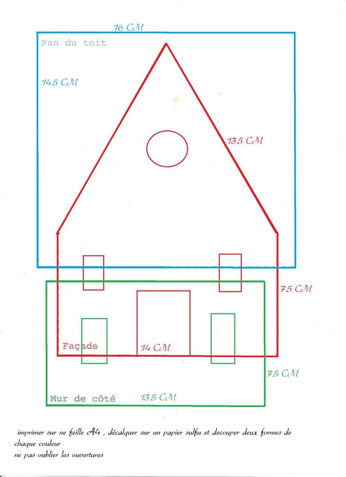 Maison De Pain D'épices - Thermomix En Famille pour Patron De Maison En Papier A Imprimer