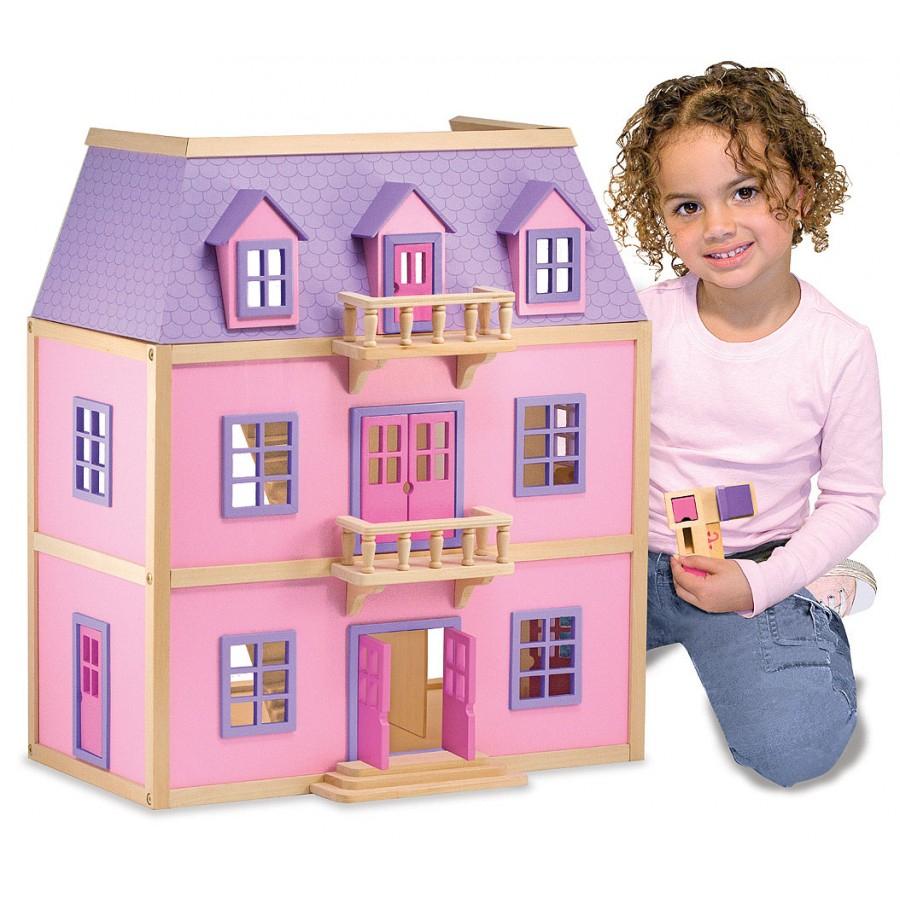 Maison De Poupée 3 Étages En Bois, Rose, Princesse, Rêve avec Jouet Pour Fille 4 5 Ans