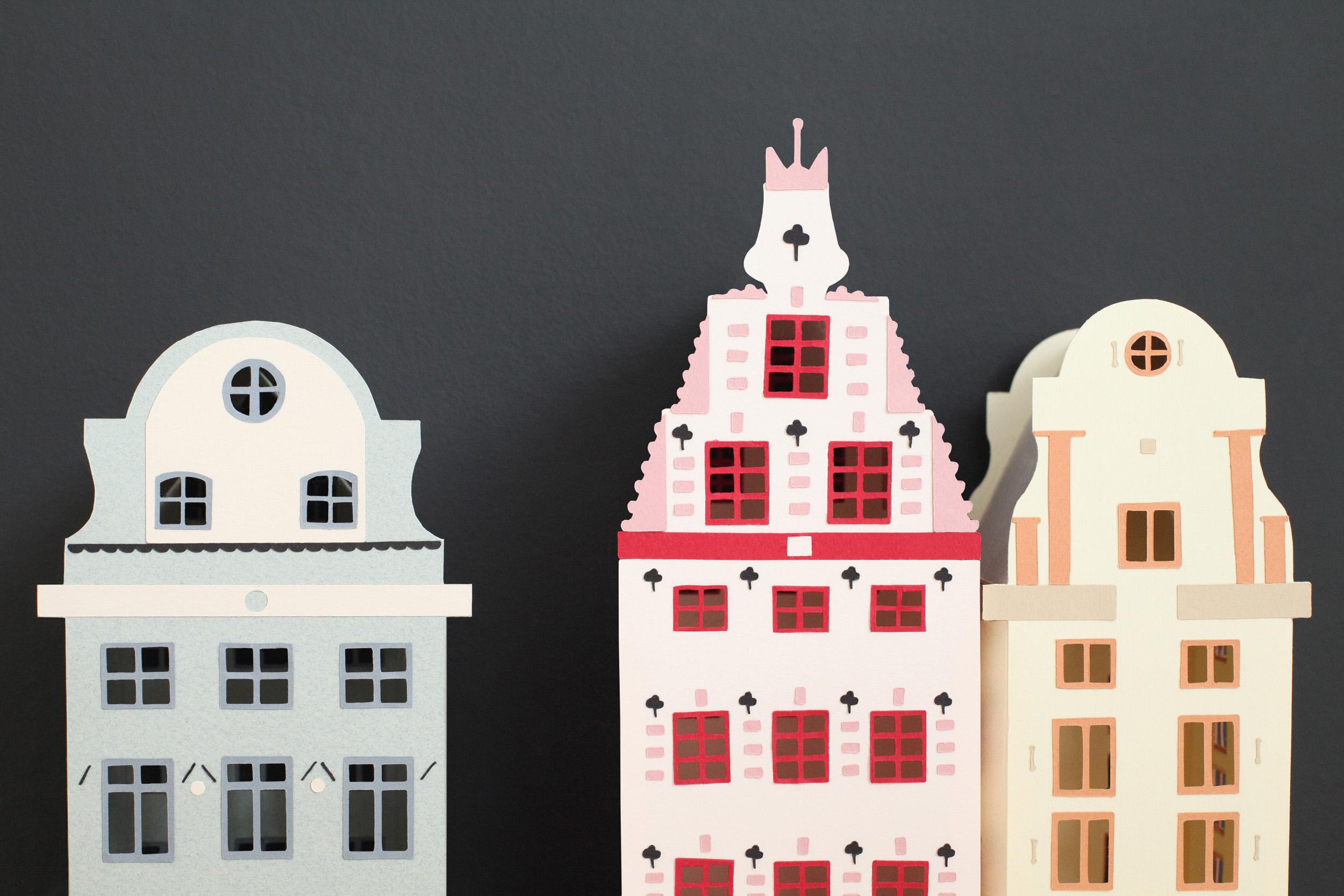 Maisons Suédoises En Papier tout Patron De Maison En Papier A Imprimer