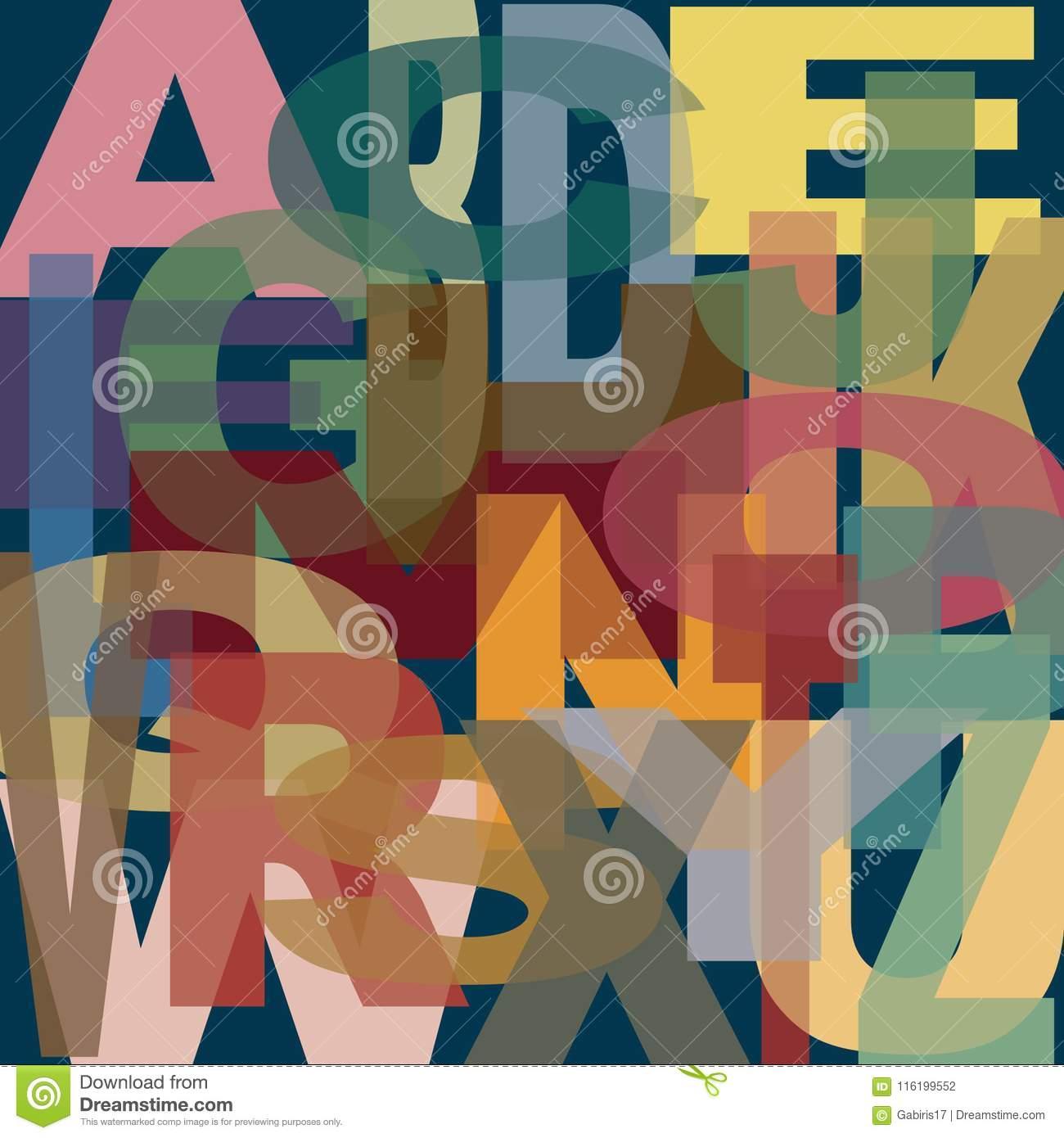 Majuscules De L'alphabet Recouvrant, Dans Le Modèle avec Modele Alphabet Majuscule