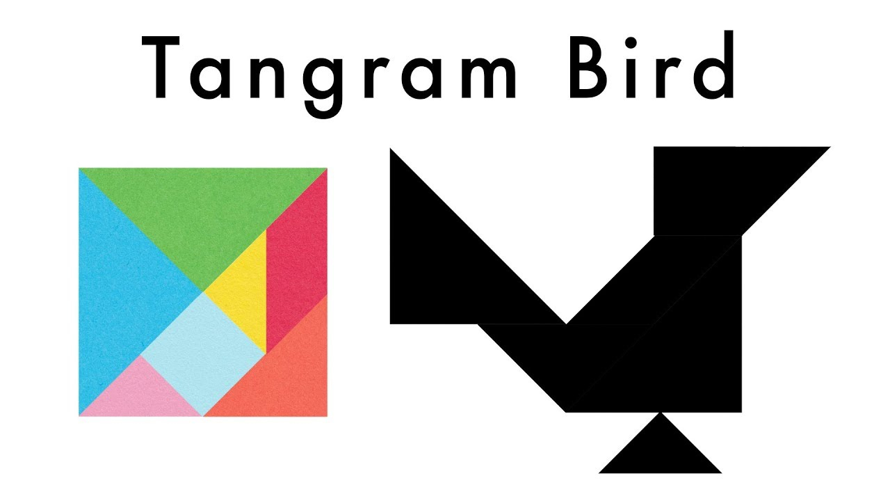 Make This Tangram Bird - Download A Free Tangram Puzzle Sheet In The Video  Description pour Tangram Simple