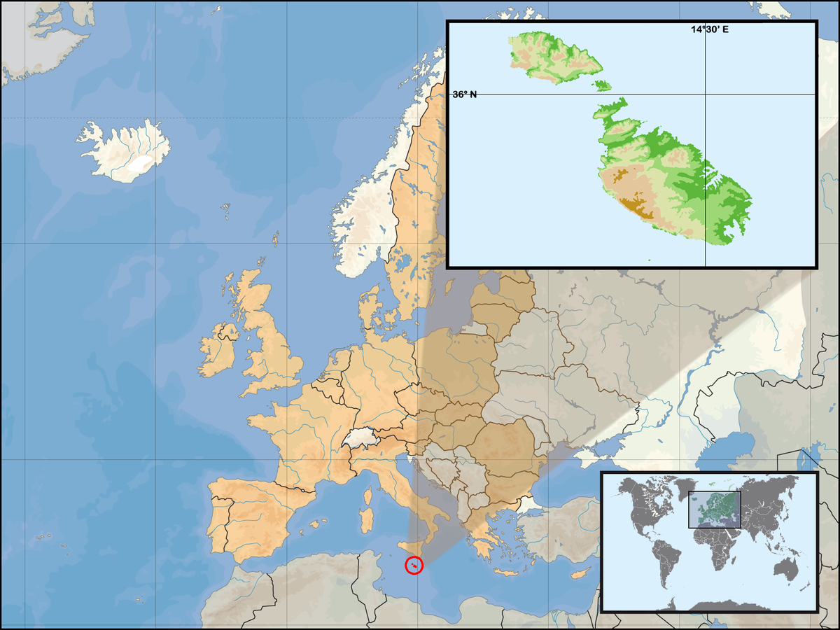 Malte — Wikipédia serapportantà Carte Du Monde Avec Capitale
