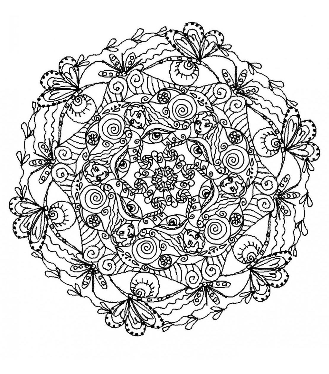 Mandala 5 - Mandalas - Coloriages Difficiles Pour Adultes serapportantà Coloriage De Mandala Difficile A Imprimer