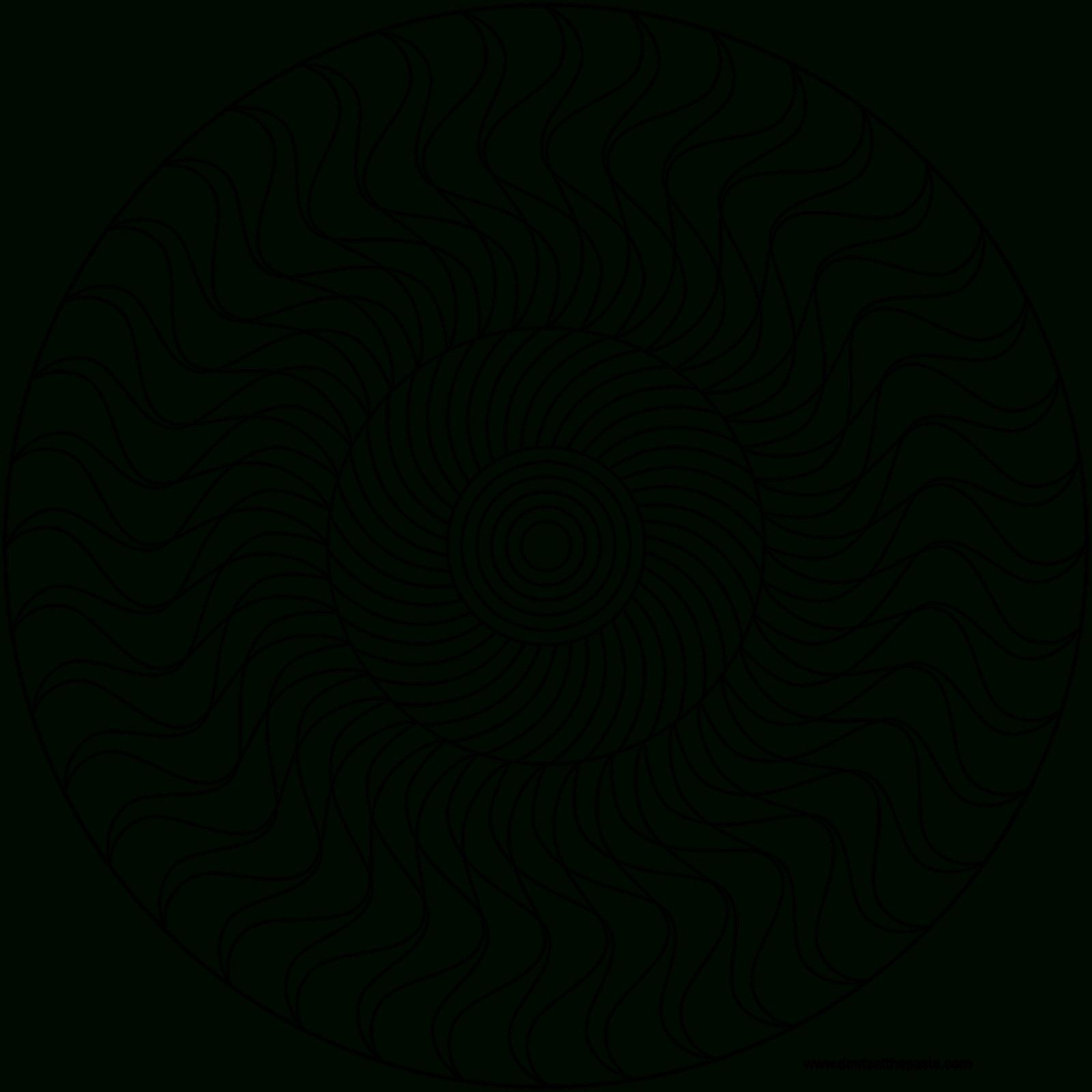 Mandala À Colorier À Imprimer à Dessin Symétrique A Imprimer