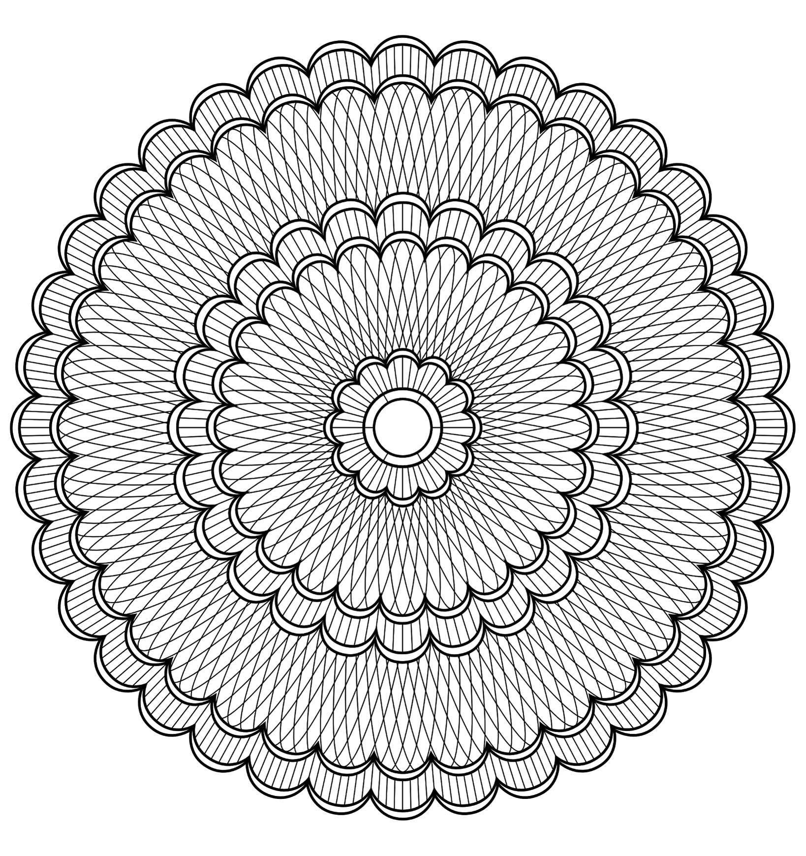 Mandala A Colorier Difficile 19 - Mandalas Difficiles (Pour tout Coloriage De Mandala Difficile A Imprimer