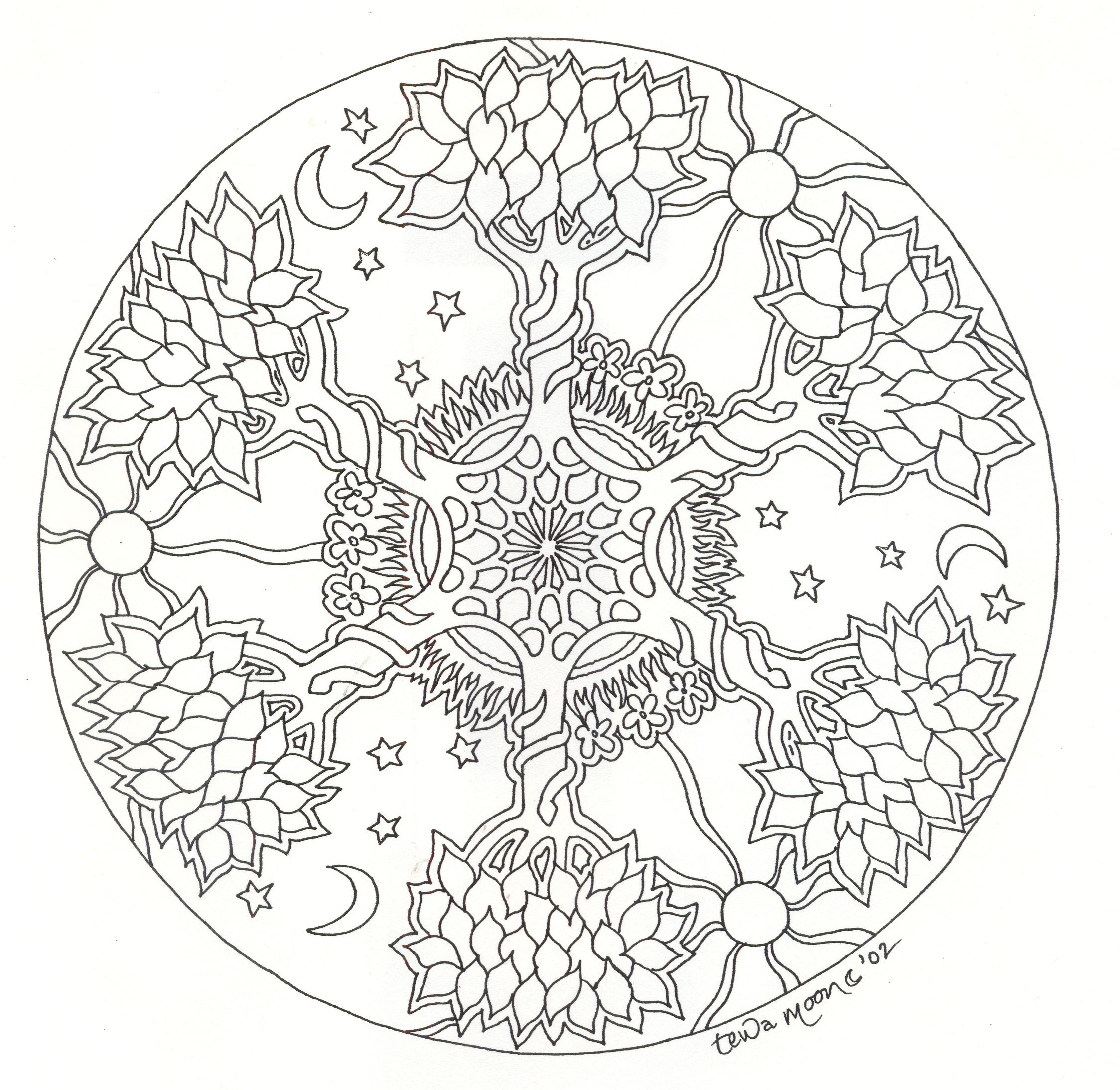 Mandala Arbre #mandala #mandalas #coloriage | Mandala À serapportantà Jeux De Coloriage De Rosace