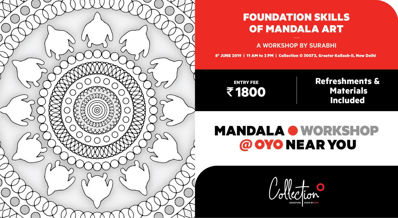 Mandala Art Workshop By Surabhi @oyo Near You - Delhi (Gkii) encequiconcerne Mandala Fée