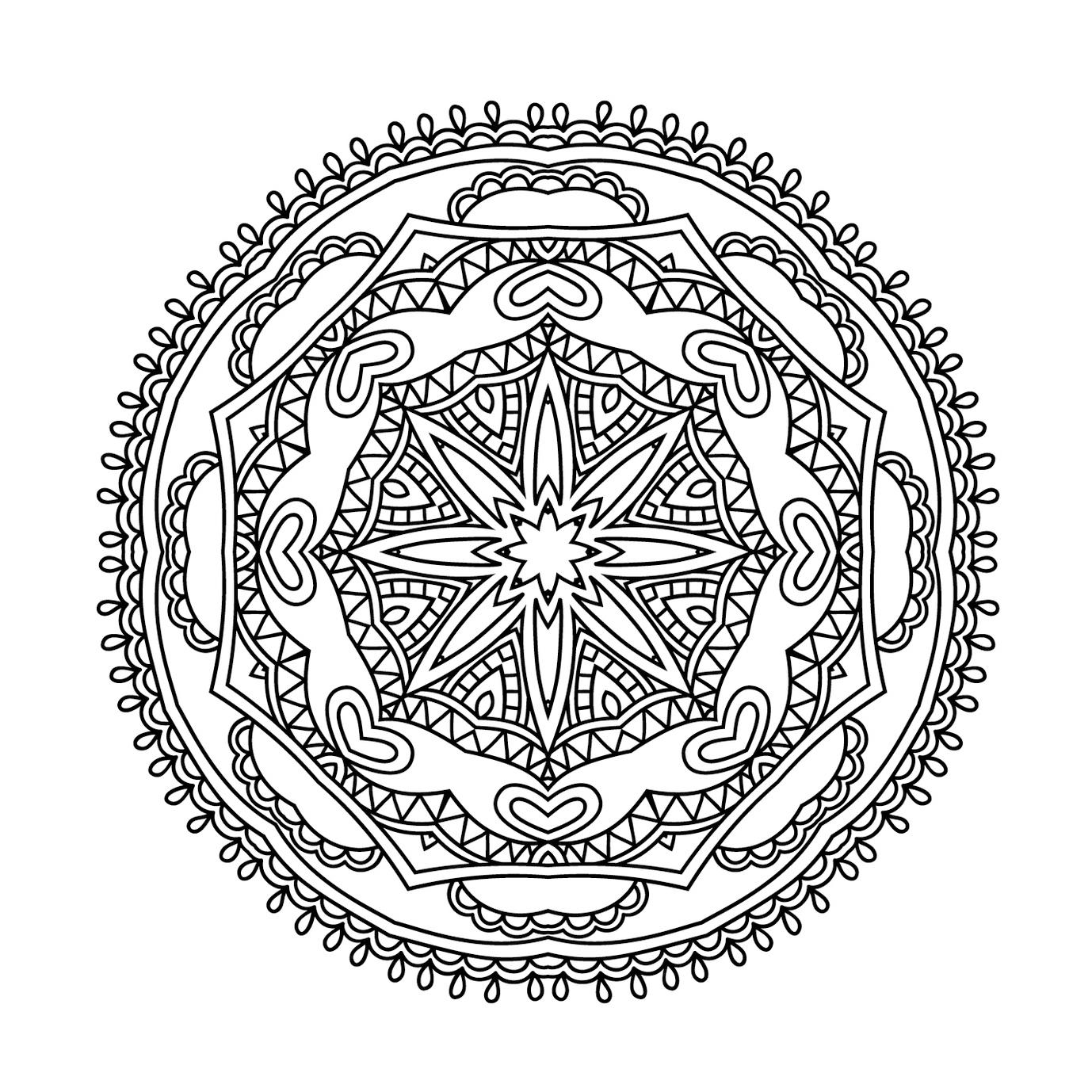 Mandala, Coloriage Mandala En Ligne avec Coloriage De Mandala Difficile A Imprimer
