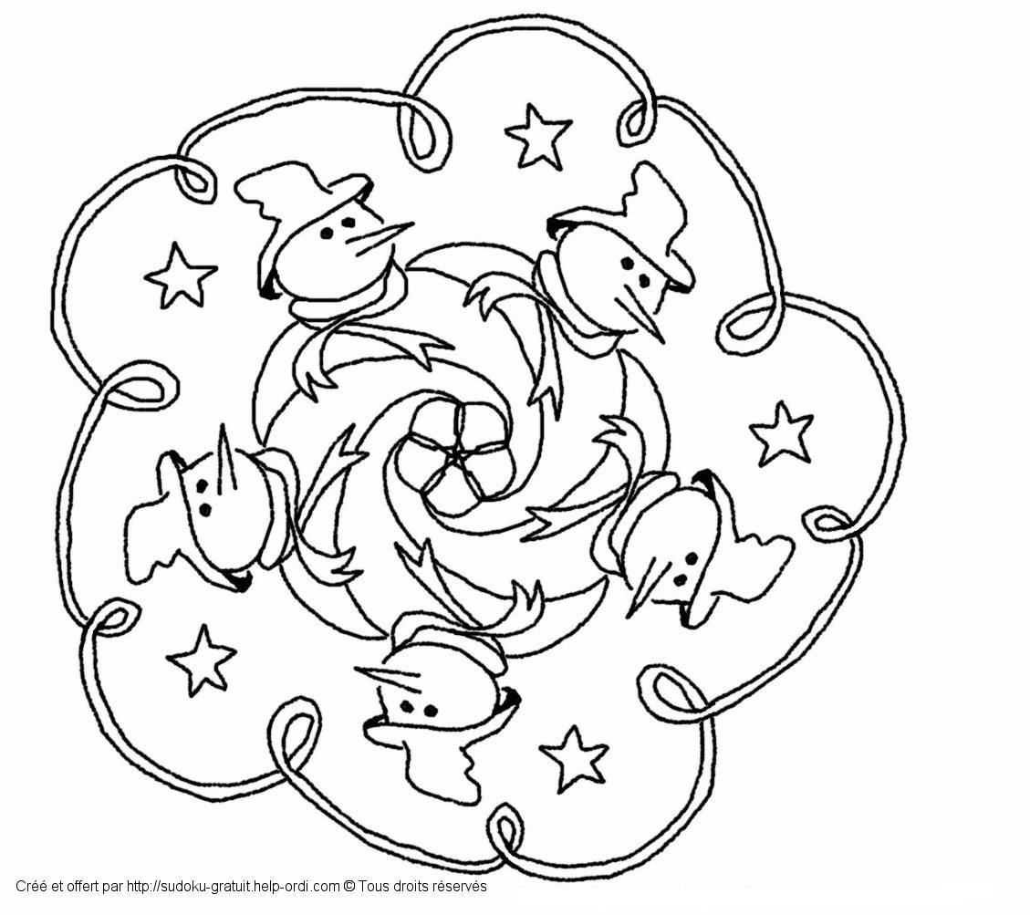 Mandala De Noël Gratuit Coloriage Enfants destiné Sudoku Gratuit Enfant