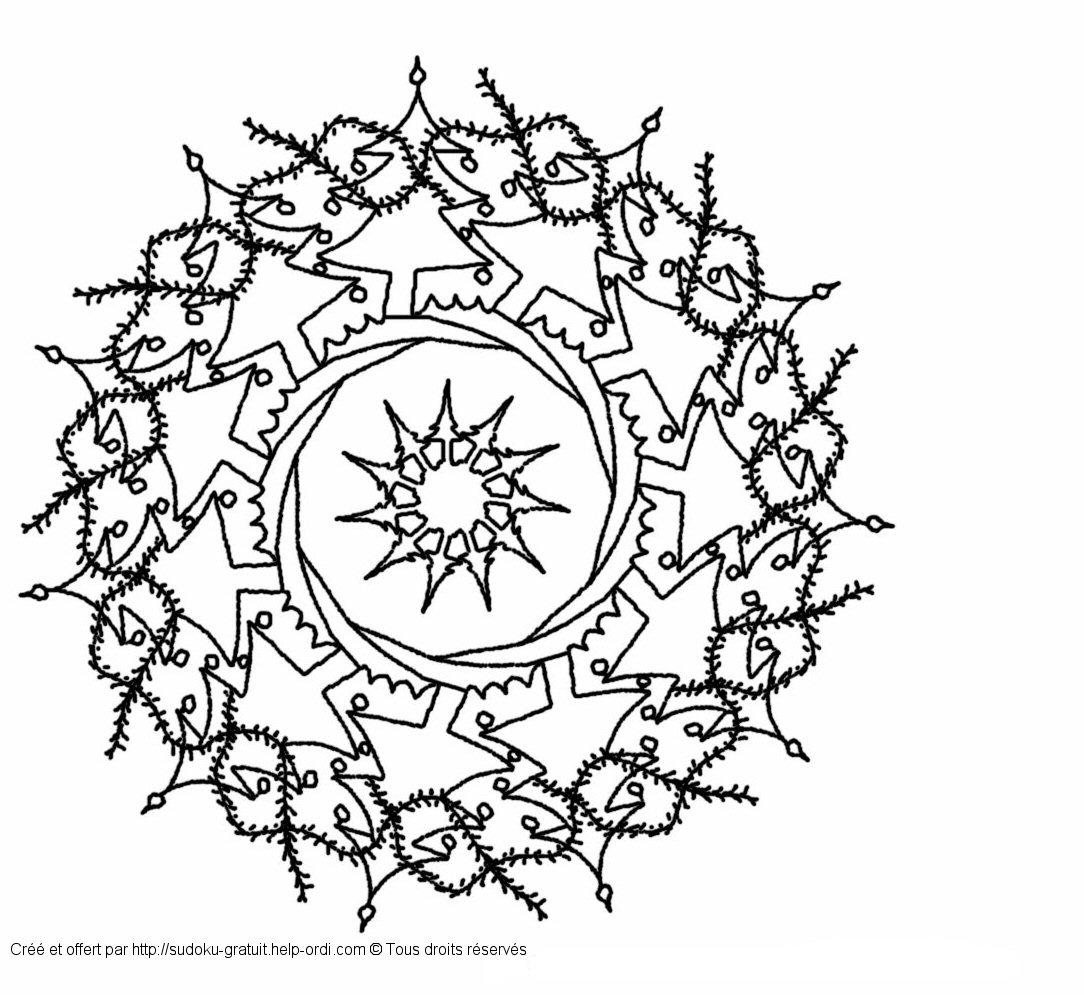 Mandala De Noël Gratuit Coloriage Enfants pour Sudoku Gratuit Enfant