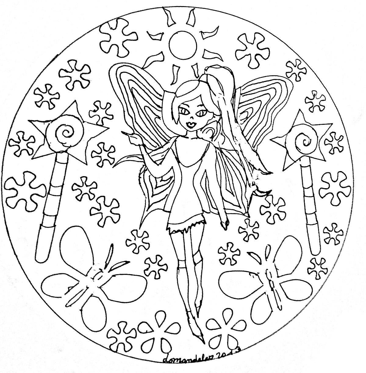 Mandala Domandalas Fairy - Simple Mandalas - 100% Mandalas dedans Mandala Fée