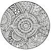 Mandala Etoile Lignes Epaisses - Mandalas - Coloriages pour Mandala À Colorier Adulte