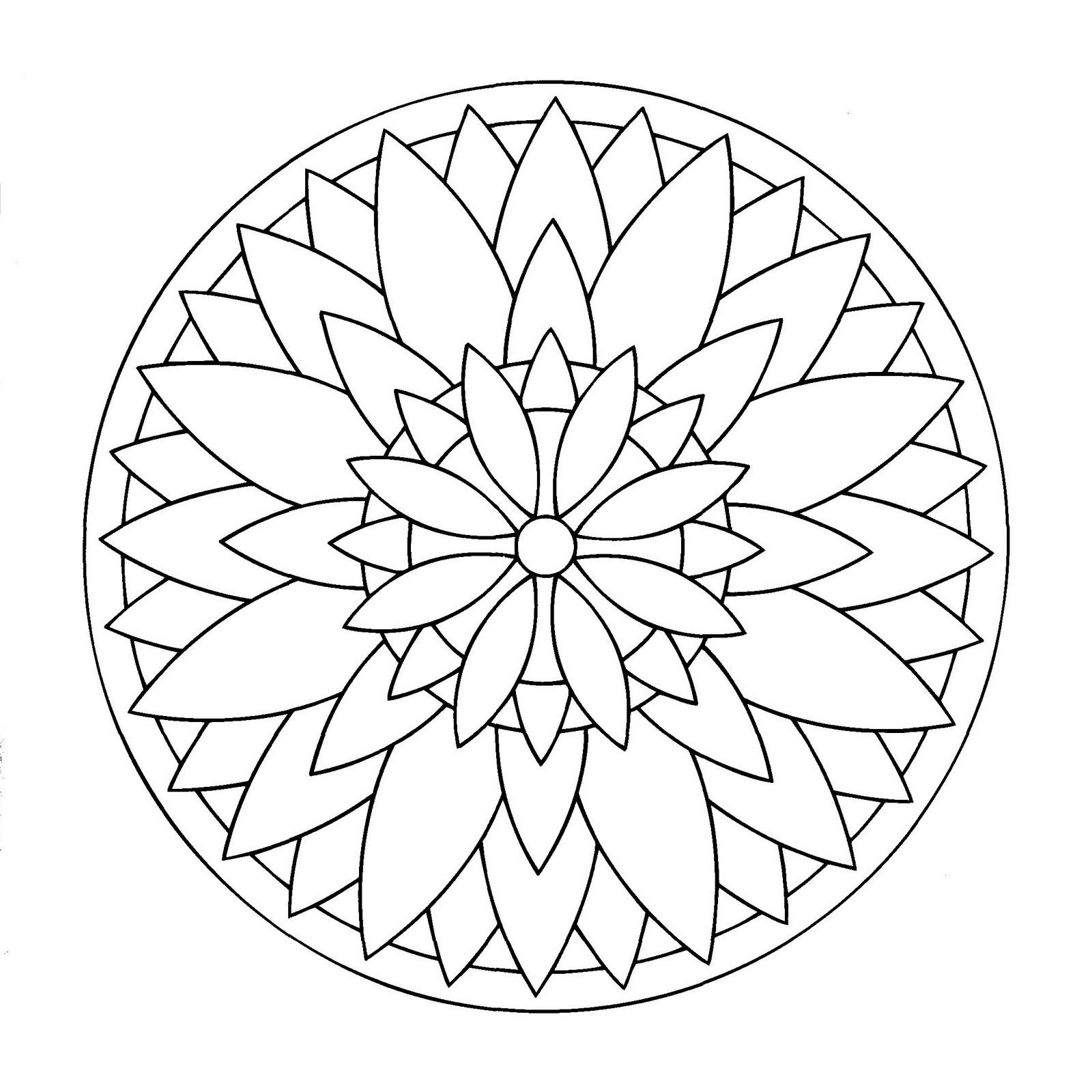 Mandala Étoile - Mandalas Faciles (Pour Enfants) - 100 destiné Mandala Facile À Imprimer