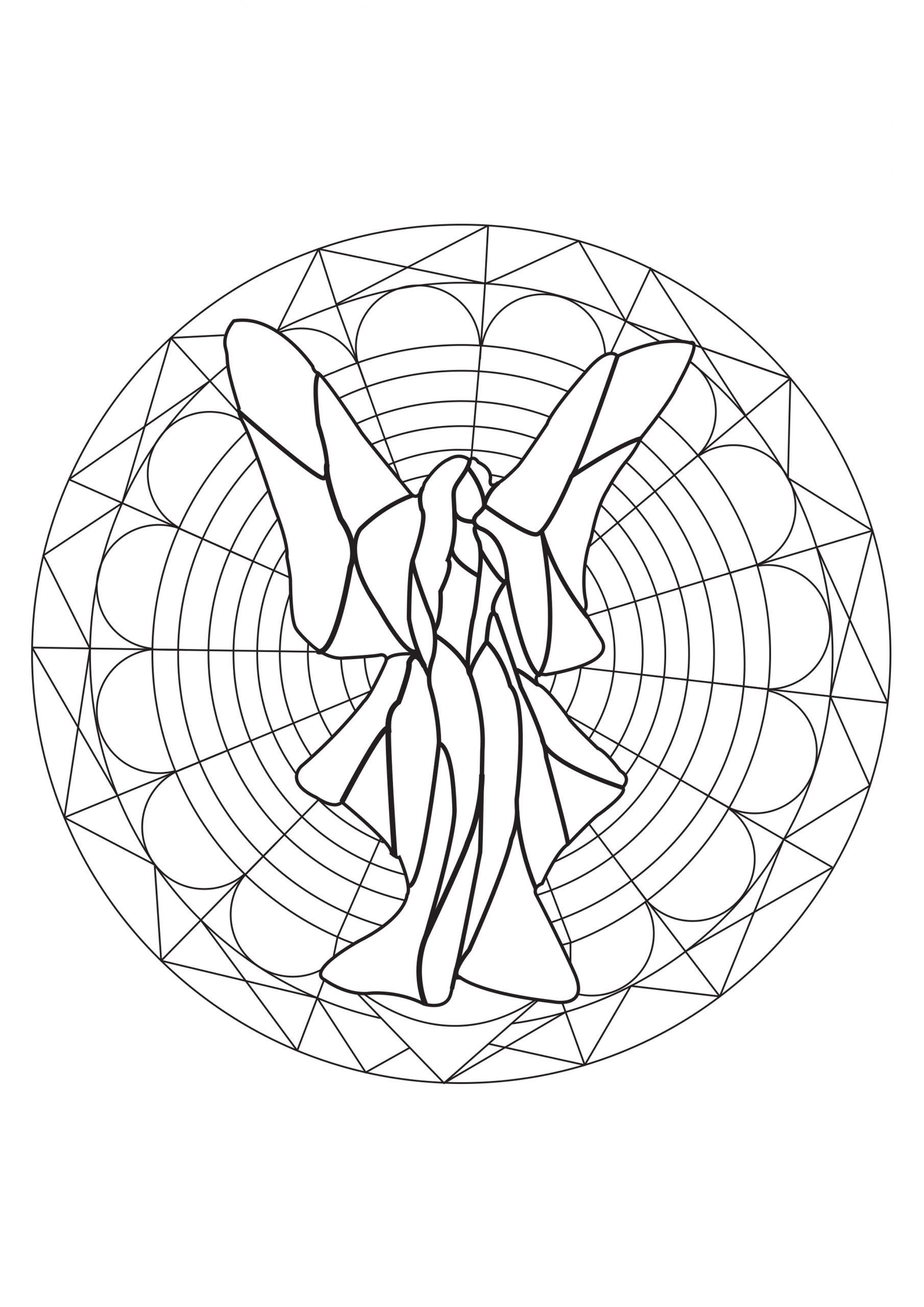 Mandala Fée Rêveuse Et Géométrique - Mandalas Zen & Anti destiné Mandala Fée