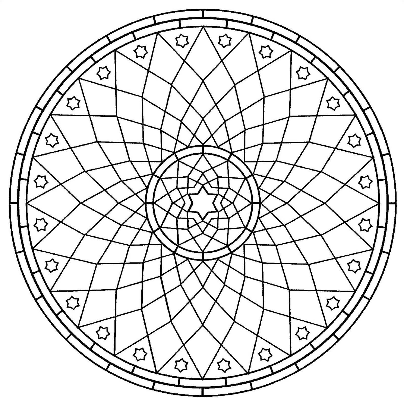 Mandala Gratuit Rosace - Mandalas Avec Motifs Géométriques avec Rosace A Imprimer