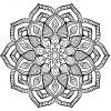 Mandala Grosse Fleur - Mandalas - Coloriages Difficiles Pour intérieur Mandala À Colorier Adulte