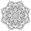 Mandala Livre Gratuit 22 - Mandalas - Coloriages Difficiles concernant Mandala À Colorier Adulte