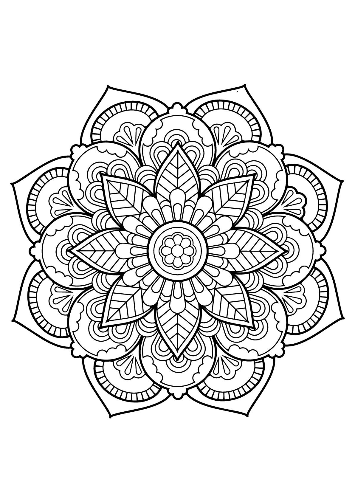 Mandala Livre Gratuit 22 - Mandalas - Coloriages Difficiles intérieur Mandala À Colorier Et À Imprimer Gratuit
