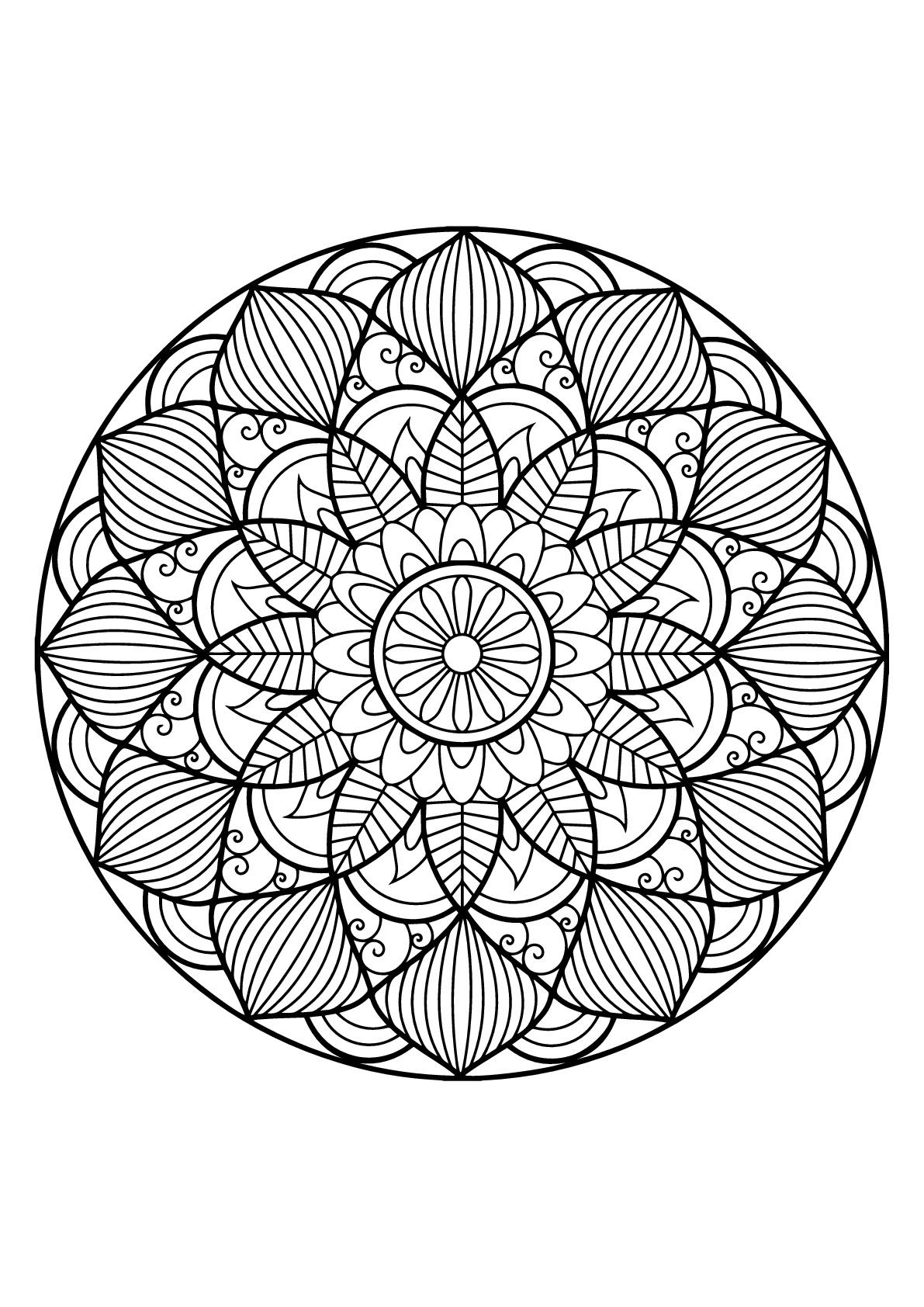 Mandala Livre Gratuit 30 - Mandalas - Coloriages Difficiles pour Mandala À Colorier Et À Imprimer Gratuit