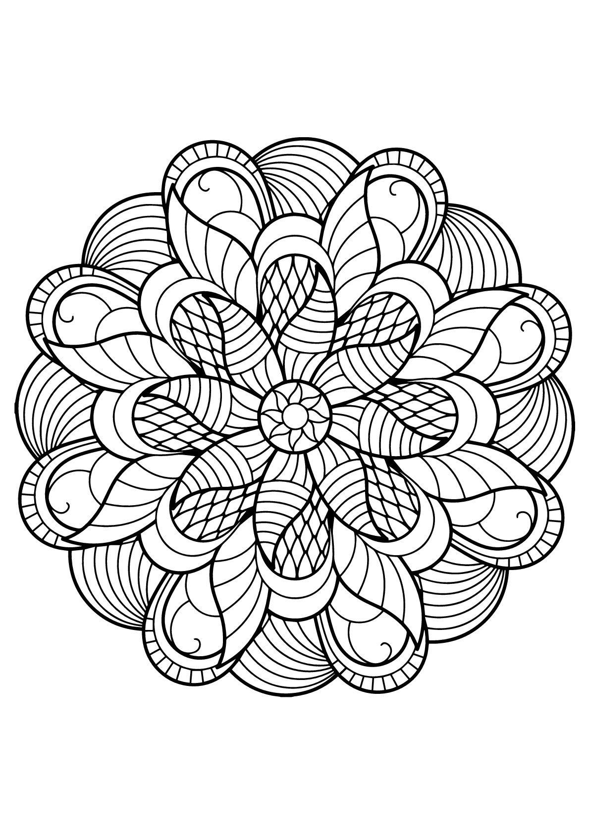 Mandala Livre Gratuit 6 - Mandala Tiré D'un Livre De intérieur Mandala À Colorier Et À Imprimer Gratuit