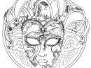Mandala Masque Du Carnaval De Venise - Mandalas De dedans Modele Masque De Carnaval A Imprimer