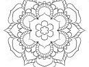 Mandala Pour Le Livre De Couleur Illustration Monochrome dedans Symétrie A Imprimer
