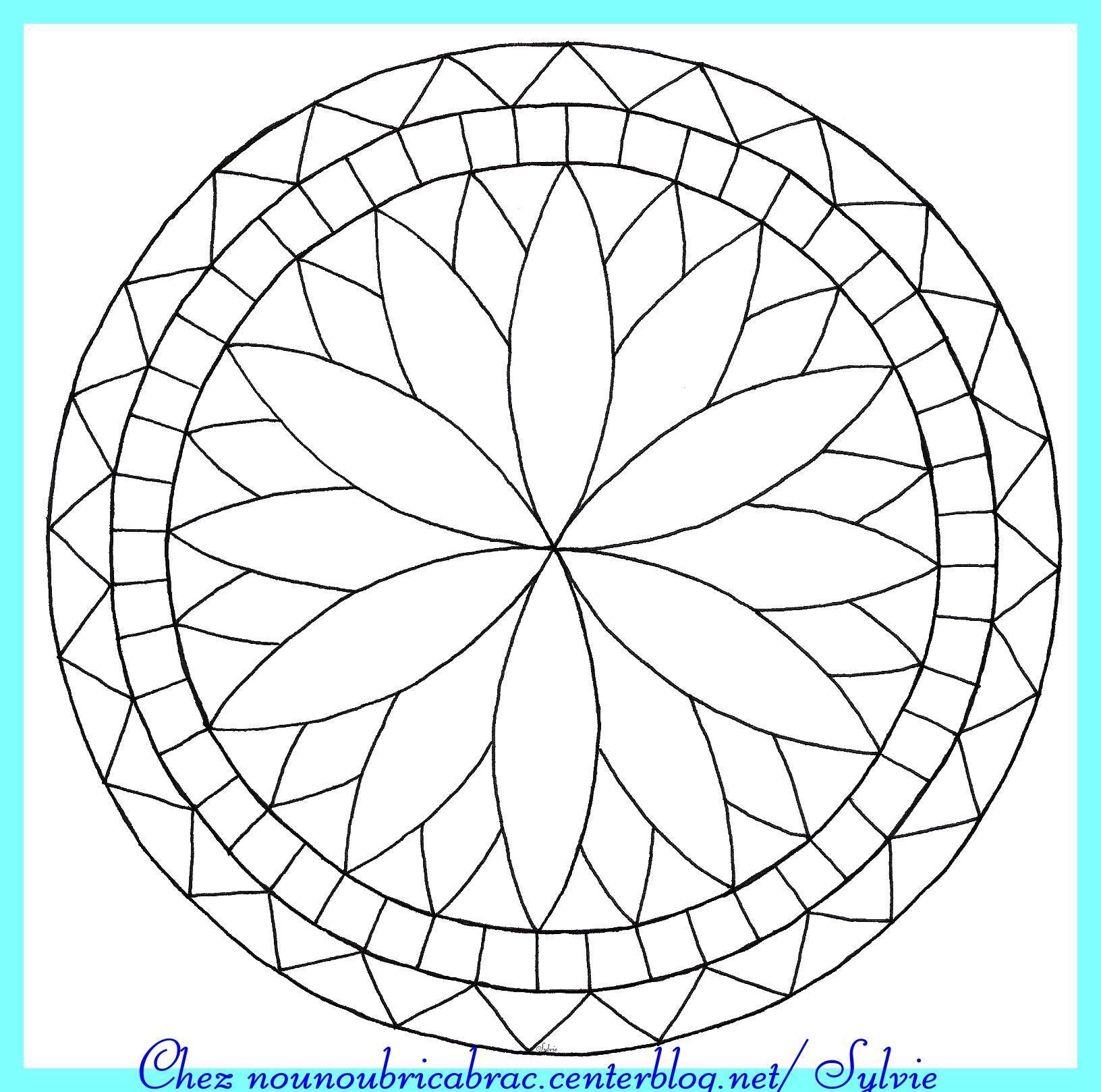 Mandala Simple À Imprimer destiné Mandala Facile À Imprimer