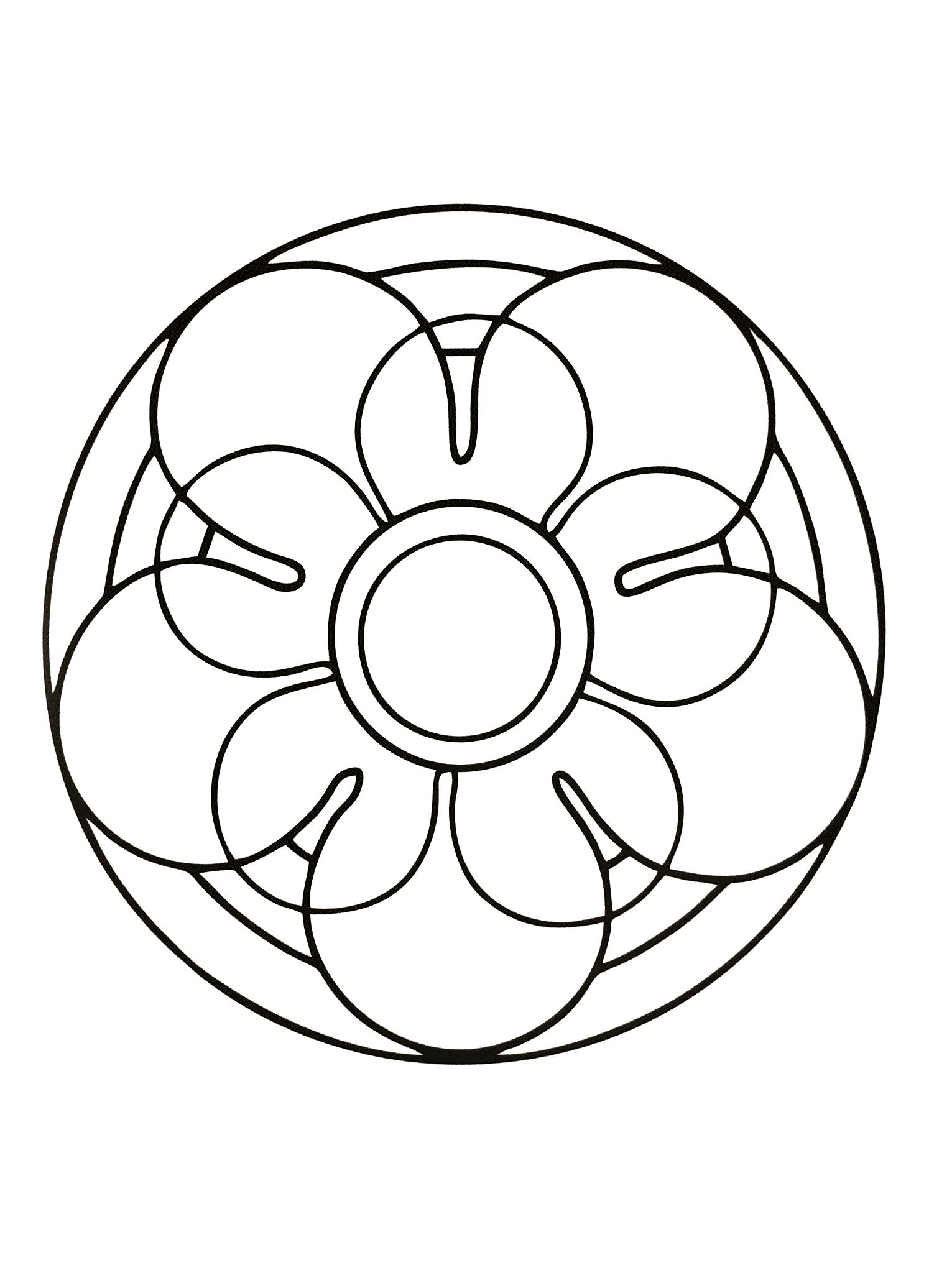 Mandala Simple Pour Les Plus Petits - Mandalas Faciles (Pour dedans Mandala À Imprimer Facile