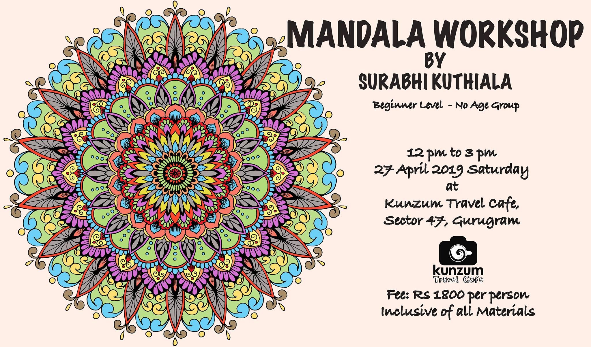 Mandala Workshop | April 27, 2019 - Kunzum - We Travel. What dedans Mandala Fée