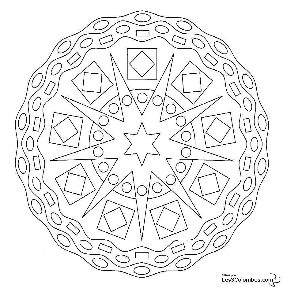 Mandalas #85 (Mandalas) – Printable Coloring Pages destiné Rosace A Imprimer