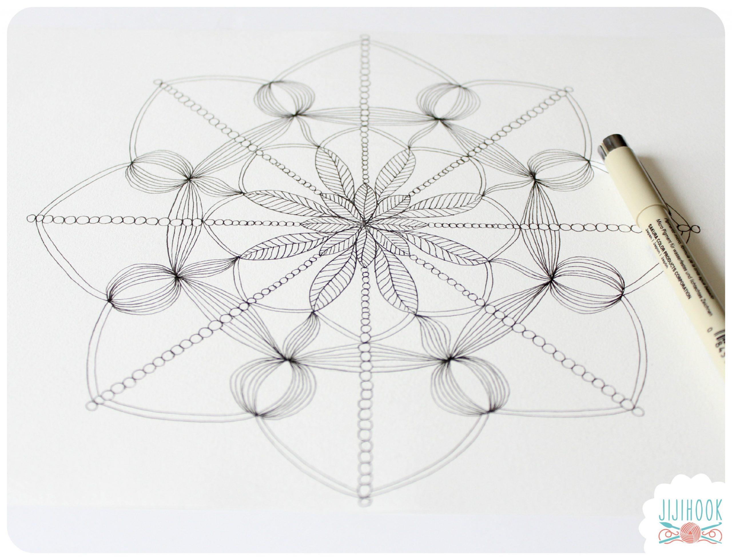 Mandalas À Colorier - Jiji Hook pour Dessiner Un Mandala