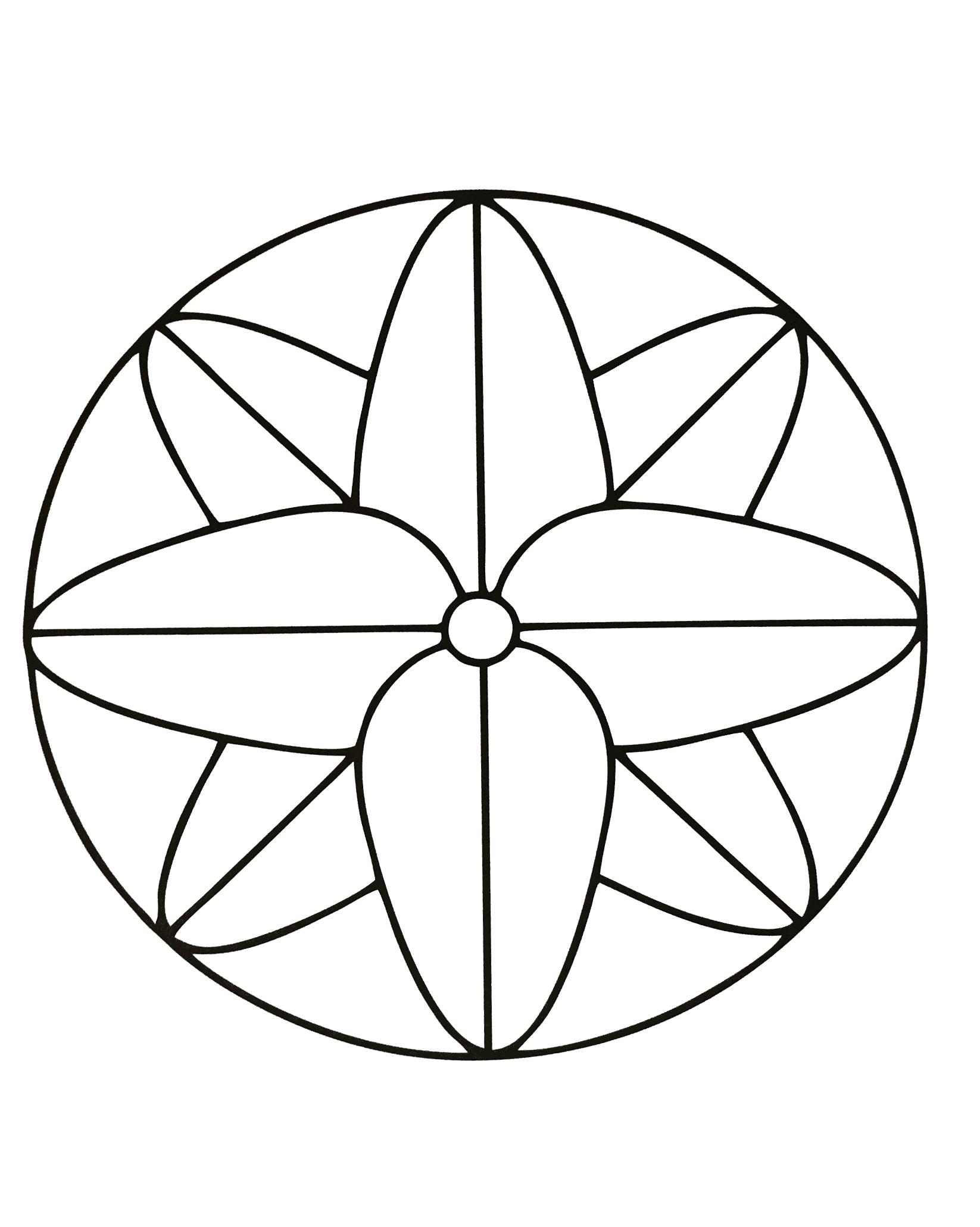 Mandalas A Imprimer Gratuit 19 - Mandalas Avec Motifs destiné Mandala À Imprimer Facile
