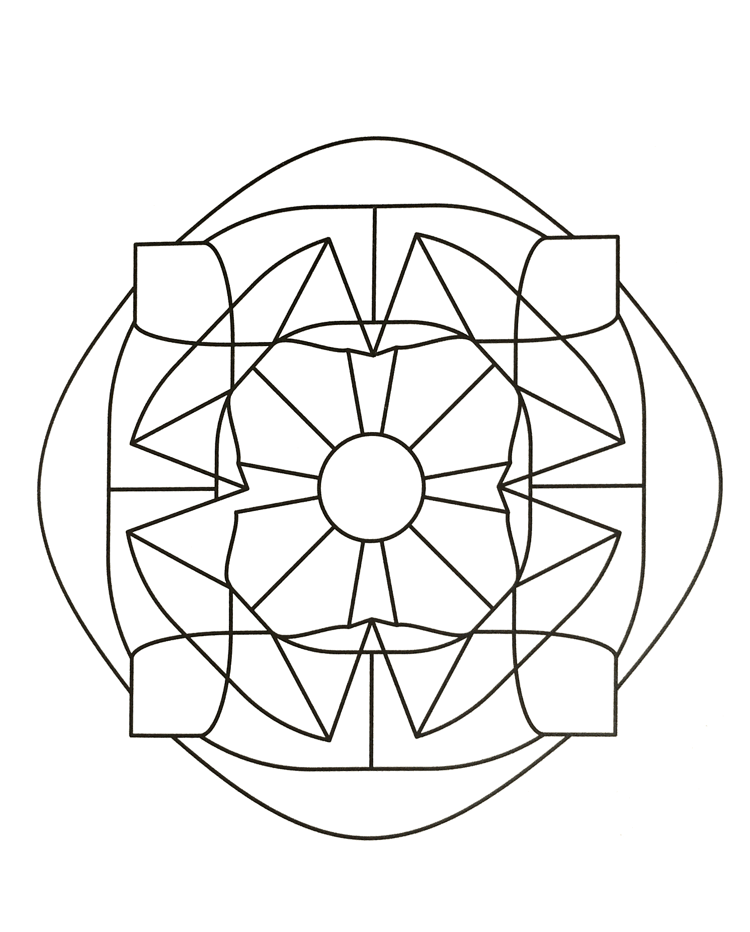 Mandalas A Imprimer Gratuit 43 - Mandalas De Difficulté dedans Dessin Symétrique A Imprimer