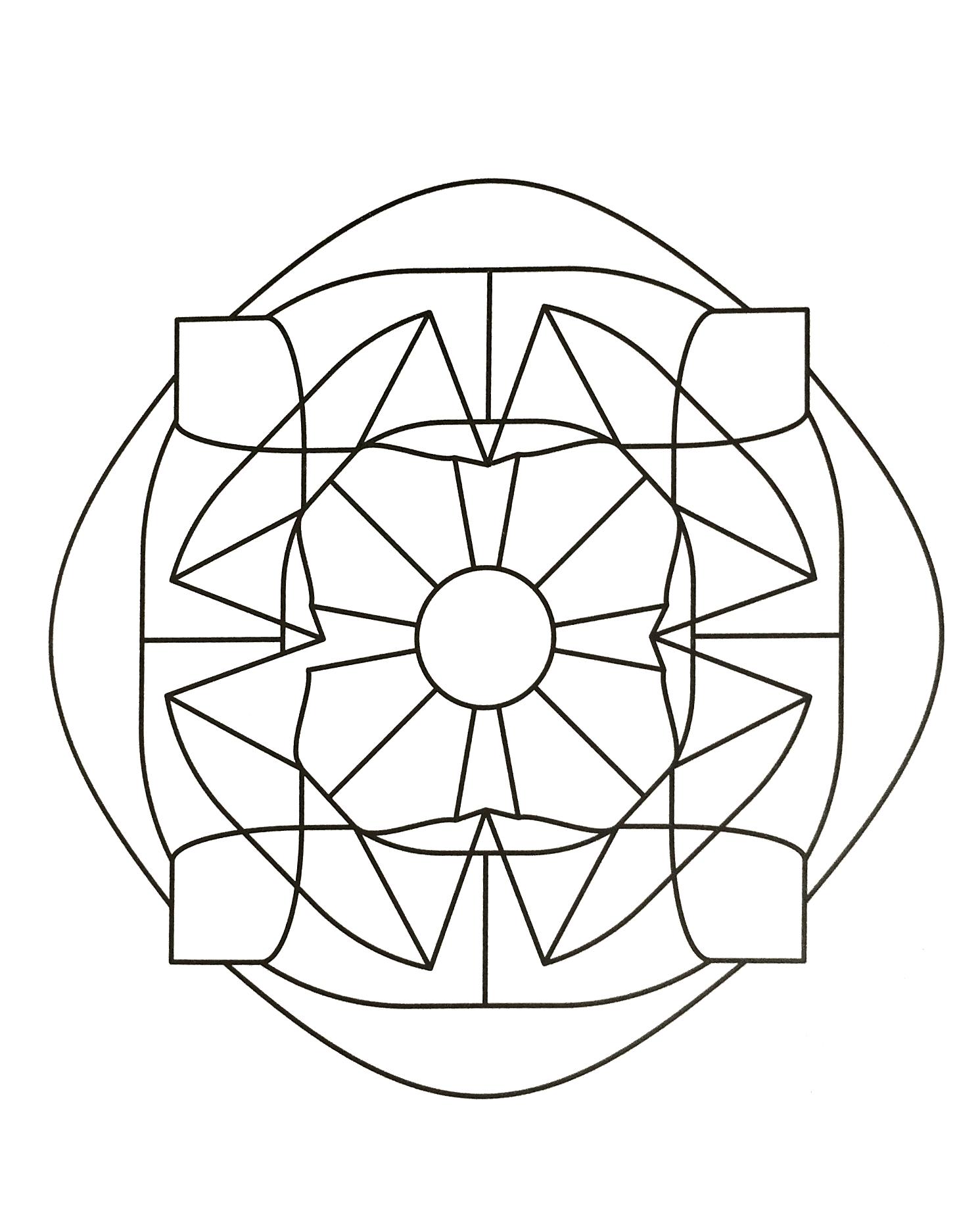 Mandalas A Imprimer Gratuit 43 - Mandalas De Difficulté intérieur Symétrie A Imprimer