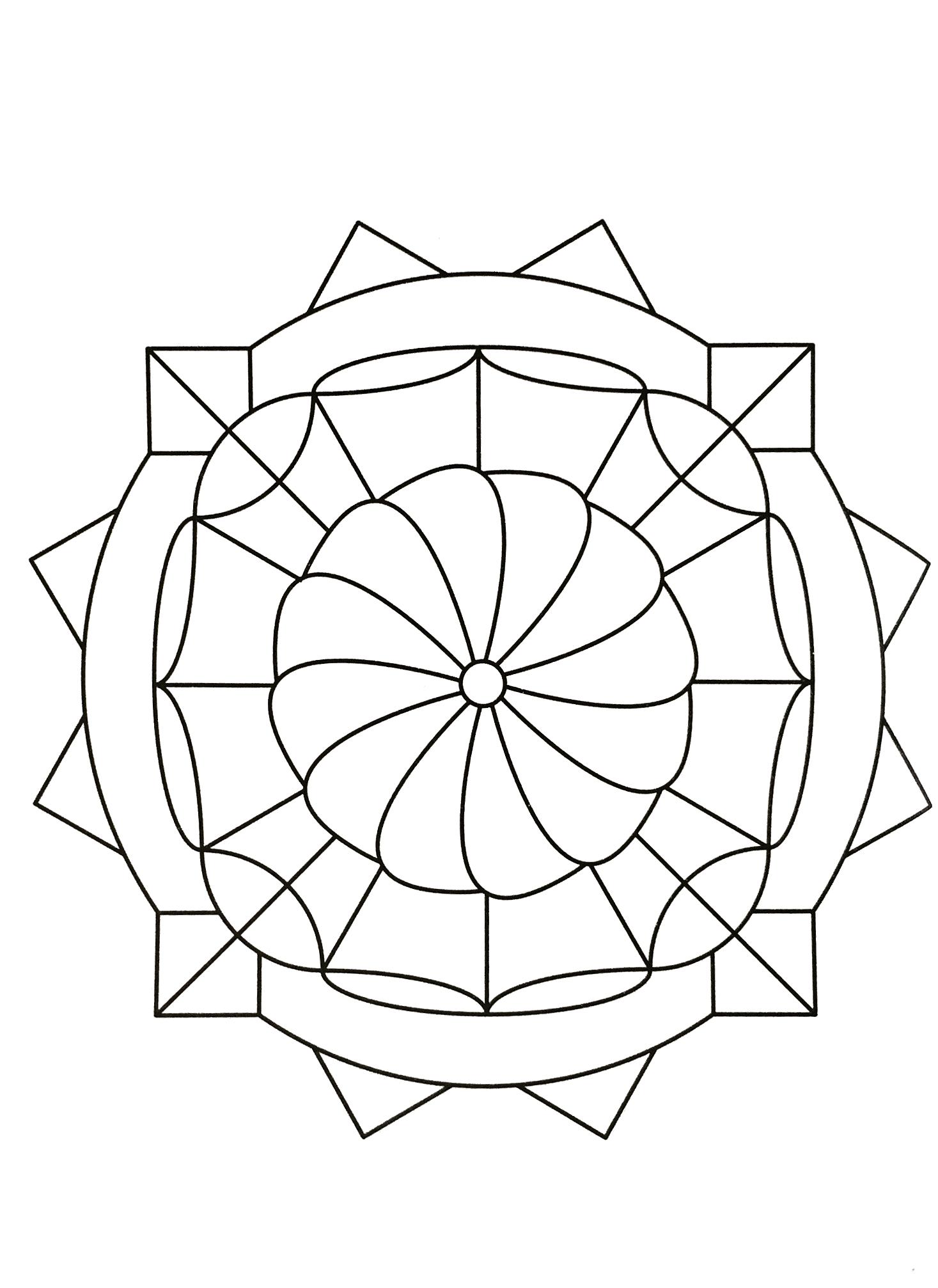 Mandalas A Imprimer Gratuit 52 - Mandalas De Difficulté intérieur Dessin Symétrique A Imprimer