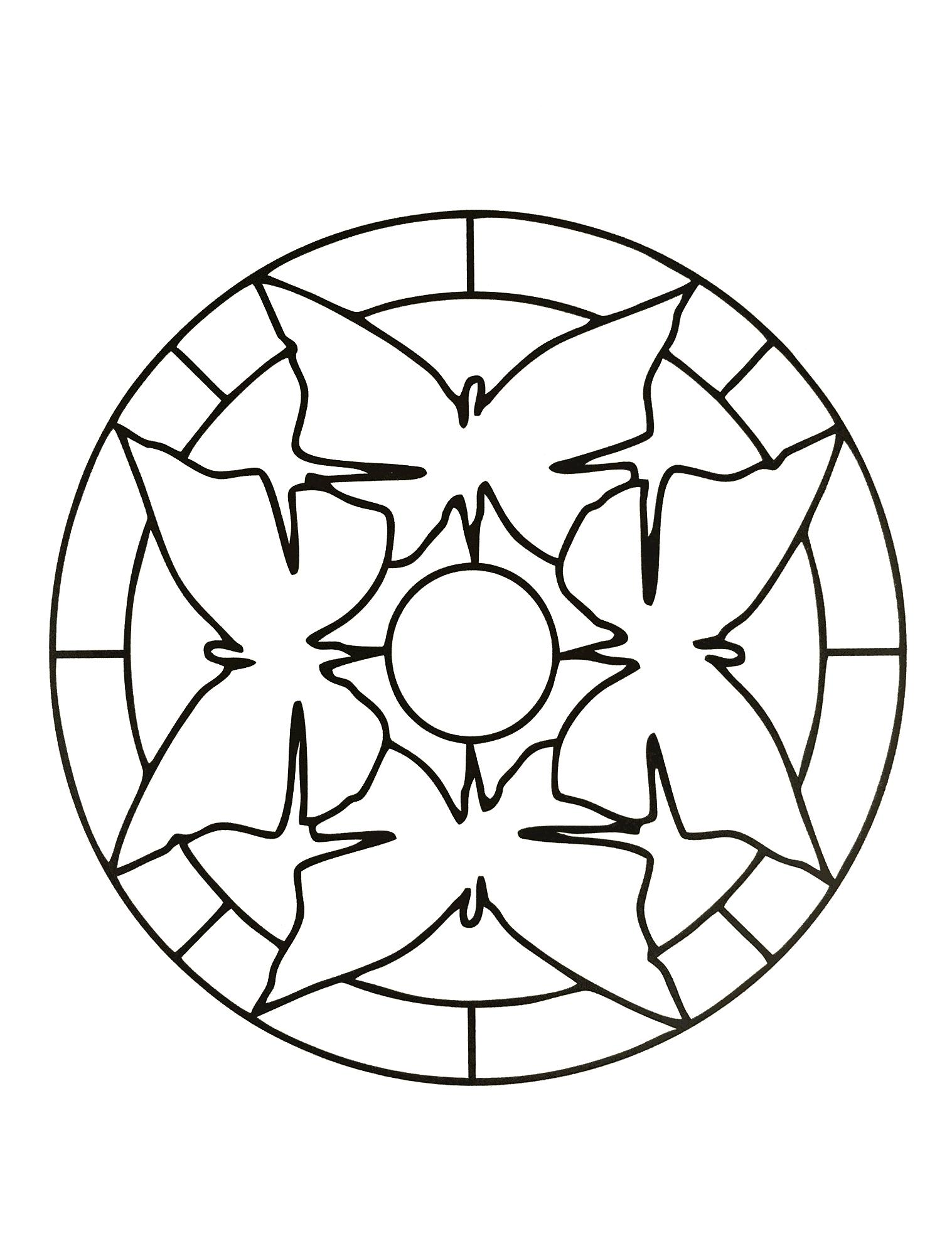 Mandalas A Imprimer Gratuit 9 - Mandalas Faciles (Pour intérieur Mandala À Imprimer Facile