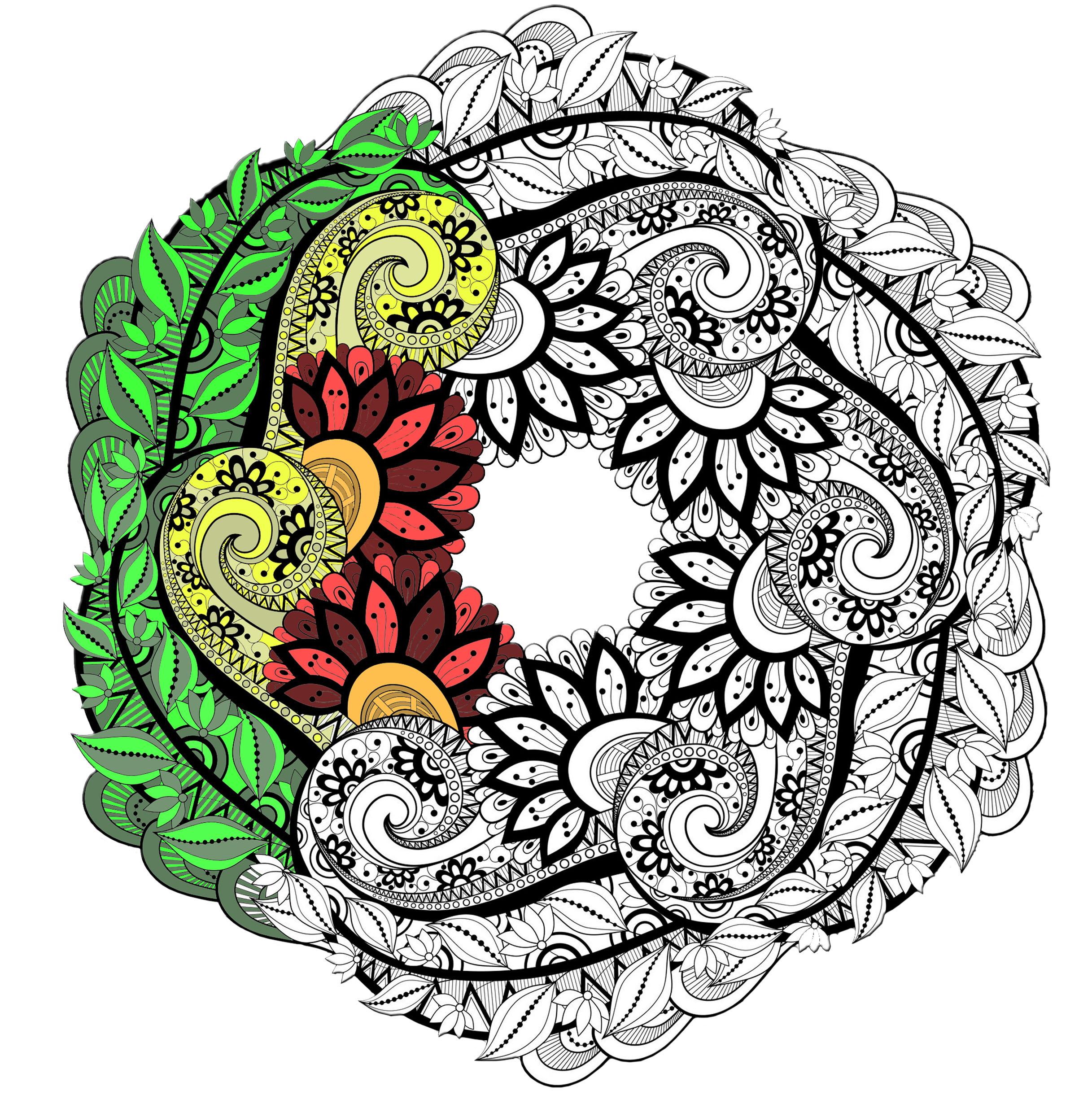Mandalas - Coloriages Difficiles Pour Adultes concernant Coloriage De Mandala Difficile A Imprimer