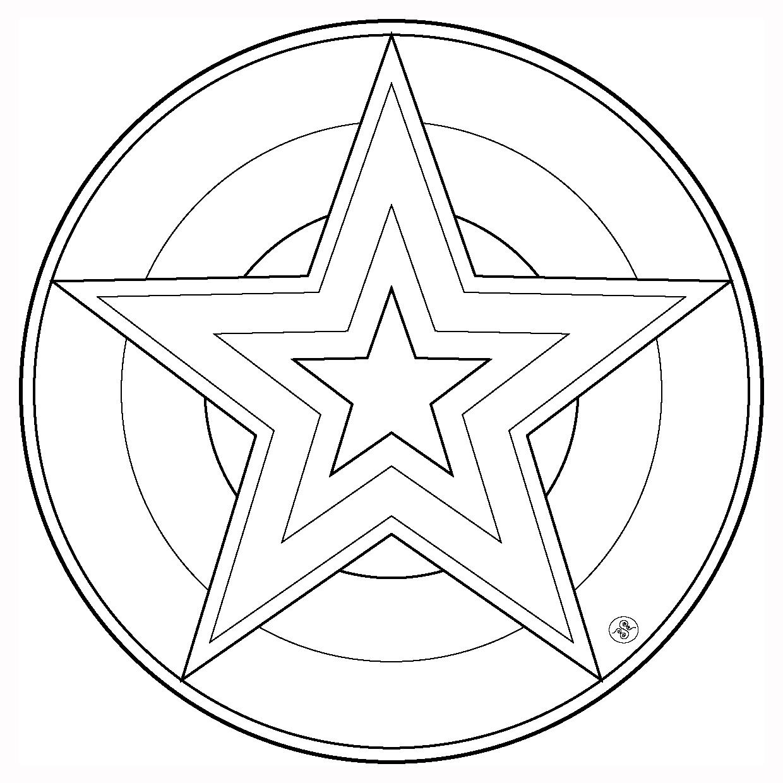 Mandalas Étoile #8 (Mandalas) – Coloriages À Imprimer dedans Mandala À Colorier Et À Imprimer Gratuit