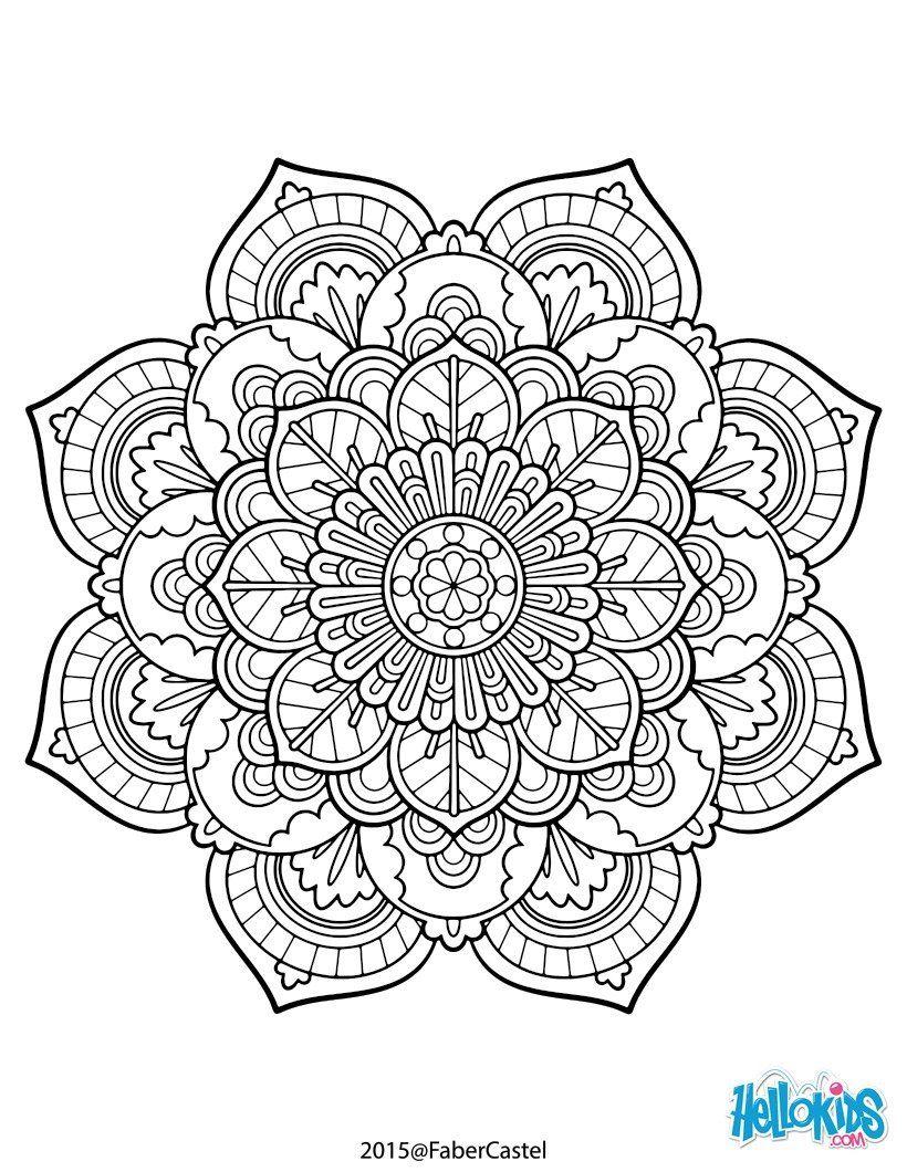 Mandalas Para Imprimir Y Colorear (6) | Coloriage Gratuit concernant Jeux De Coloriage De Rosace