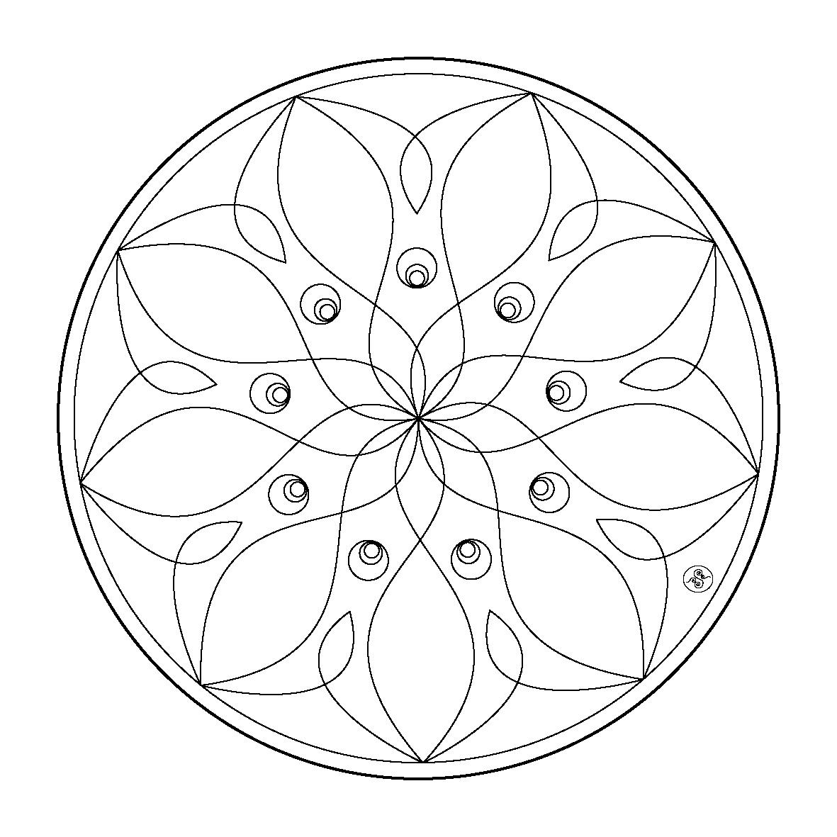 Mandalas Pour Enfants #40 (Mandalas) – Coloriages À Imprimer à Mandala À Colorier Et À Imprimer Gratuit