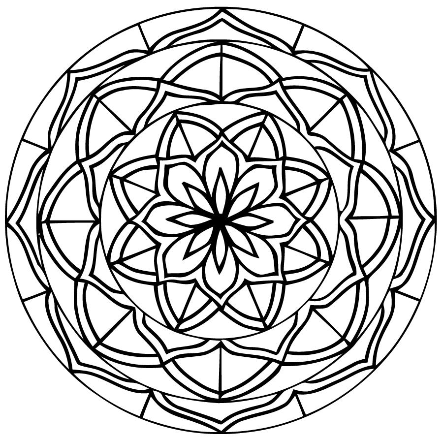 Mandalas Pour Enfants #87 (Mandalas) – Coloriages À Imprimer serapportantà Mandala Facile À Imprimer