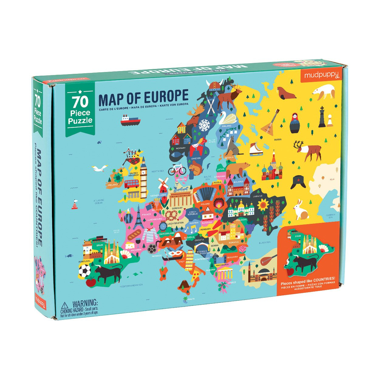 Map Of Europe 70 Piece Puzzle - Mudpuppy dedans Carte De L Europe 2017