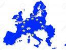 Map Of European Union And Eu Flag On A White Background serapportantà Carte Union Europeene