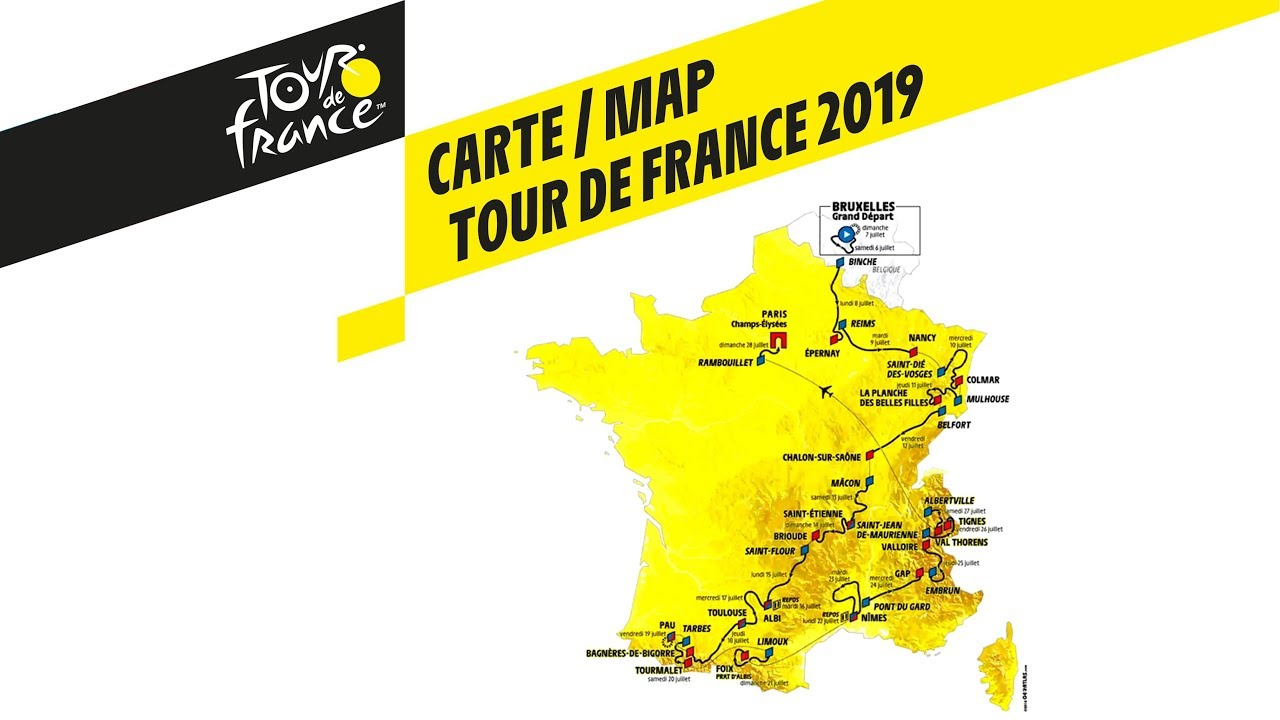 Map - Tour De France 2019 à Mappe De France
